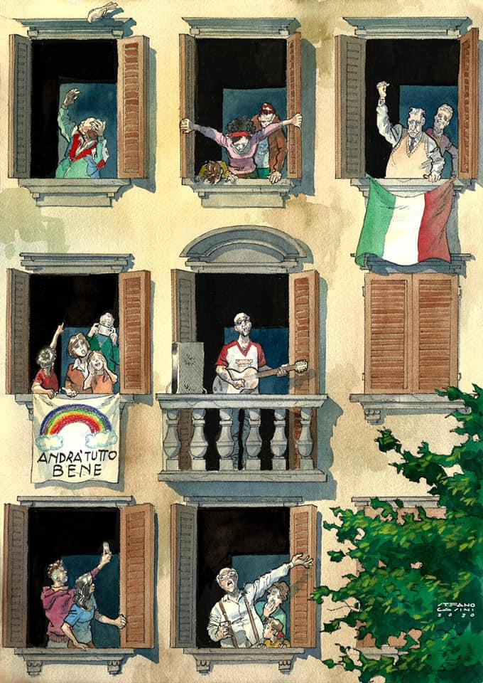 Italiani alla finestra